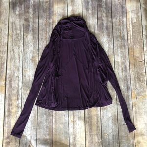 Theory Plum Purple Cardigan Shrug